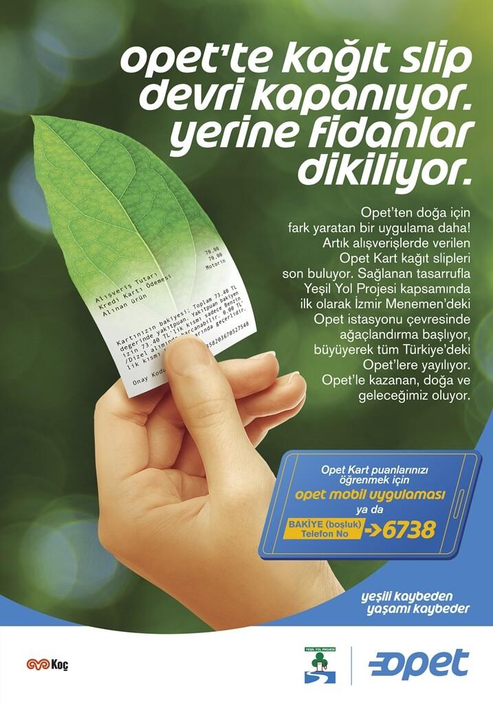 OPET'te kağıt slip dönemi sona eriyor yerine fidanlar dikiliyor - 35 İzmir Haberleri